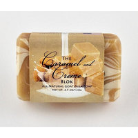 Caramel & Cream Bar - One All Natural Goat Milk Soap With Lemon, Almond, and Ginger Essential Oils (4.5oz)