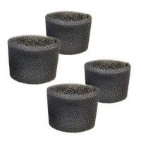 HQRP Foam Filter Sleeve for Shop-Vac 2E150, 2E200, 2010, 2010A, 2015, 2015A, 201-15-00, 201-14-00 Hang Up Mini Wet / Dry Vac Vacuums + HQRP Coaster (Pack of 4)