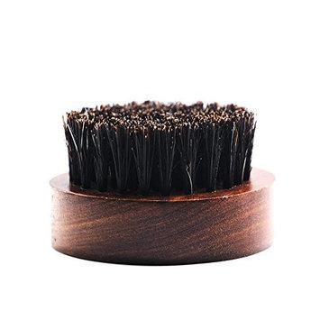 Blue ZOO Beard Brush Boar Bristles Small and Round - Black Sandalwood For Men -