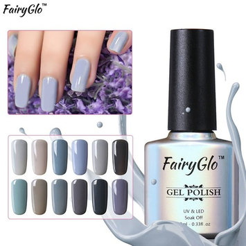 12pcs Grey Gel Nail Polish UV LED Soak Off Lacquer Nail Art Varnish Beauty Decor Gift Set By FairyGlo