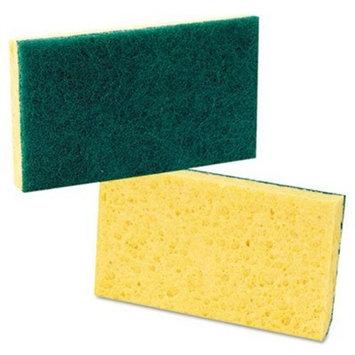 Scrub Sponges, Cellulose, Medium-Duty, 3-5/8x6-1/4, Yellow/Green, 20/Carton PAD174 by Premiere Pads