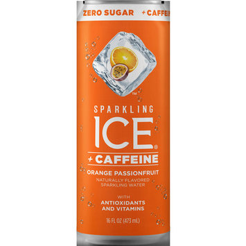 Sparkling Ice® + Caffeine Orange Passionfruit, 16 Fl Oz Can, 12 Count
