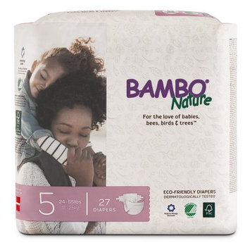 Bambo Nature Premium Baby Diapers, Size 5, 27 Count