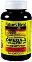 Omega-3 Fish Oil Extra Strength 1,760 mg 60 Sgels