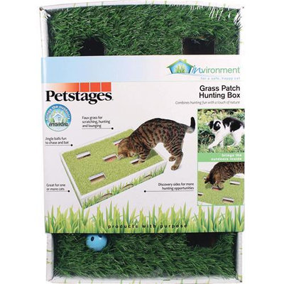 Petstages Invironment Grass Patch Hunting Box For Cats