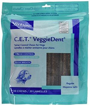Virbac C.E.T. VeggieDent Dental Chews - Regular Dogs - 30 count
