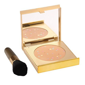 MagicMinerals Gold Edition by Jerome Alexander - Mineral Powder Compact with Mirror, Blending Sponge and Mini Stubby Brush - Foundation, Concealer and Corrector All-In-One - Medium