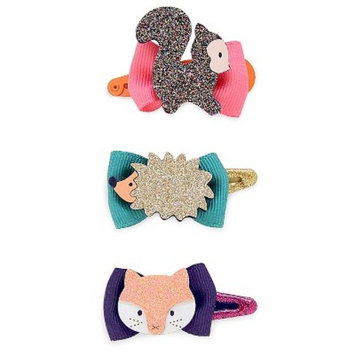 Girls' Animal Bow Hair Clips 3 pk - Cat & Jack™ Multicolored