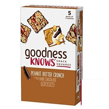 goodnessknows Peanut Butter Crunch & Dark Chocolate Snack Squares