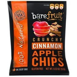 Bare Fruit BWA01797 12 x 3.4 oz Naturally Crunchy Cinnamon Apple Chips