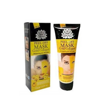One & Only Premium Beauty Blackhead Cleansing Deep Purifying Facial Peel-off Mask for Face and Body, Gold Collagen, 6.1