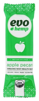 Evo Hemp 1705920 Apple Pecan - Cold Pressed Omega Bar 1.7 oz - Case of 12