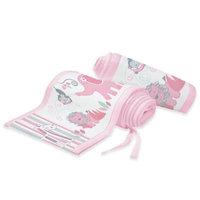 BreathableBaby Mesh Crib Liner - Safari Fun Pink, Multi-Colored