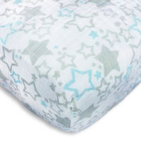 SwaddleDesigns Fitted Crib Sheet - Blue Shimmer