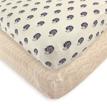 Touched By Nature Hedgehog Organic Fitted Crib Sheet Set