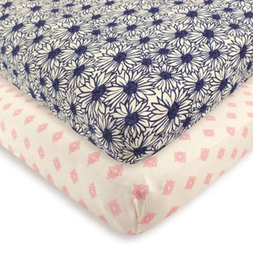 Touched By Nature Daisy Organic Fitted Crib Sheet Set