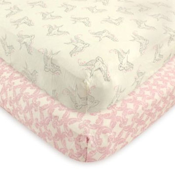 Touched By Nature Bird Organic Fitted Crib Sheet Set