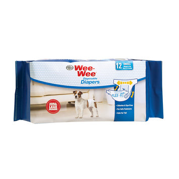 Four Paws Wee Wee Disposable Diapers, Small 12ct