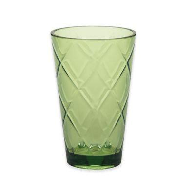 Certified International Diamond Iced Tea Glasses in Green (Set of 8)
