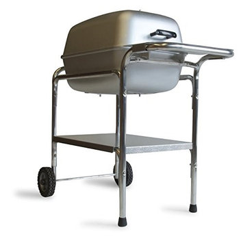 Portable Kitchen Cast Aluminum Charcoal Grill & Smoker