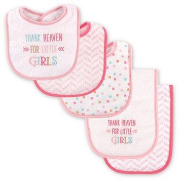 Luvable Friends Pink 'Thank Heaven for Little Girls' Bib & Burp Cloth Set