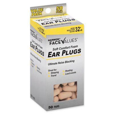 Harmon Face Values Soft Foam Beige Ear Plugs 50 Pair