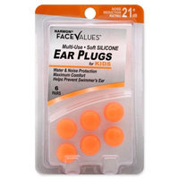 Harmon Face Values Multi Use Silicone Kids Orange Ear Plugs