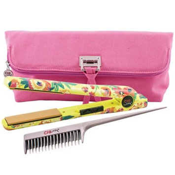 Chi Home CHI Air Classic Tourmaline Ceramic 1 Flat Iron Hair Straighteners - Wildflower with Clutch and Backcomb