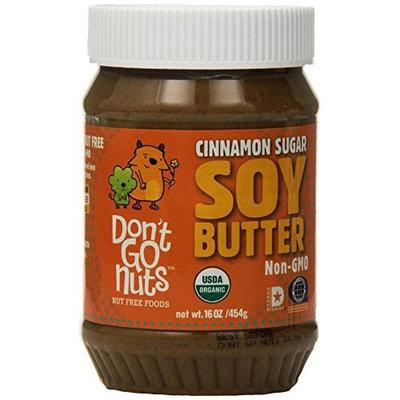 Don't Go Nuts Nut-Free Non GMO Organic Roasted Soybean Spread, Simply Cinnamon, 6 Count [Simply Cinnamon]