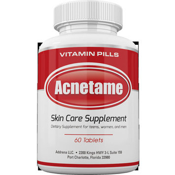 Acnetame- Vitamin Supplements for Oily Skin, 60 Natural Pills