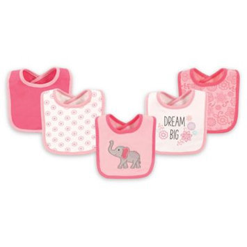 Hudson Baby Pink 'Dream Big' Drooler Bib Set