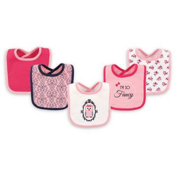 Hudson Baby Pink 'I'm So Fancy' Drooler Bib Set