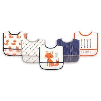 Hudson Baby Fox Bib - Set of Five