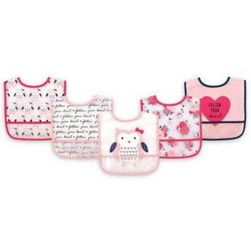 Hudson Baby Pink 'Follow Your Heart' Bib Set