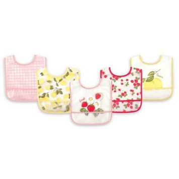 Hudson Baby Strawberries Bib - Set of Five