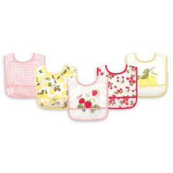 Hudson Baby Strawberries Bib - Set of Five