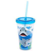 Stephen Joseph 12 oz. Shark Tumbler with Straw in Blue
