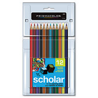 Prismacolor Scholar Colored Woodcase Pencils, 12 Assorted Colors/Set