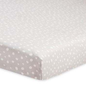 Tuxedo Dots Mini Crib Sheet by Babyletto