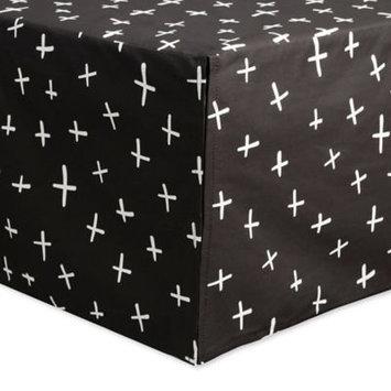 Tuxedo Monochrome Crib Skirt by Babyletto