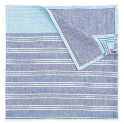 Elegant Baby® 3-Ply Yarn-Dyed Cotton Muslin Blanket in Blue