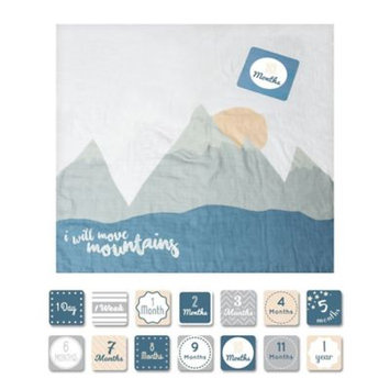 Lulujo I Will Move Mountains Milestone Blanket & Cards by Lulujo