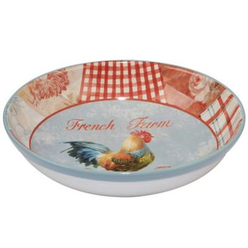 Certified International Farm House Rooster by Danhui Nai Ceramic Serving Bowl 128oz Red