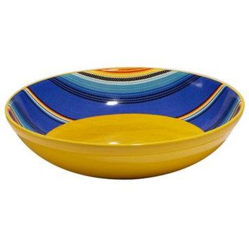 Certified International Pinata Nancy Green Square Ceramic Serving Bowl 128oz Yellow