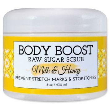 basq 8 oz. Body Boost Raw Sugar Scrub in Milk and Honey