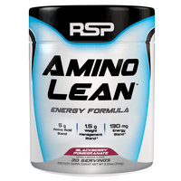 RSP Nutrition Amino Lean Blackberry Pomegranate Natural Focus, Energy & Weight Loss Formula 30 Serv