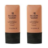 Revlon Photo Ready Skinlights Face Illuminator - Peach Light (2 Pack) + FREE Schick Slim Twin ST for Dry Skin