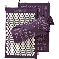 Spoonk Hemp Acupressure Massage Mat with Carrying Bag, Plum Purple