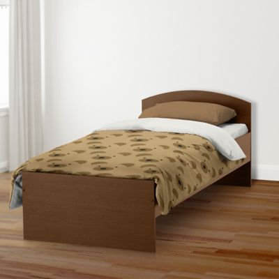 Designs Direct Bear Face Friend Twin Duvet Cover in Brown