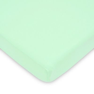 TL Care® Fitted Jersey Cotton Playard Sheet in Mint